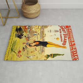 The Great Coney Island Water Carnival – Barnum & Bailey Circus Poster Rug