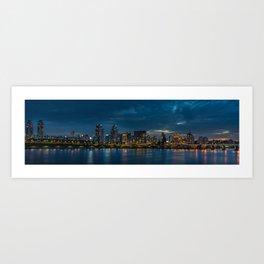 Han River by Night Panorama Art Print