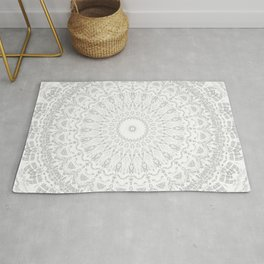Grey Threads Mandala Rug