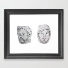Modest Beards Framed Art Print