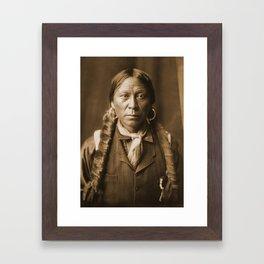 Native American Apache Portrait by Edward Curtis, 1904 Framed Art Print