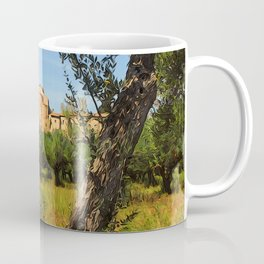 Italy, olive trees and an ancient abbey Coffee Mug