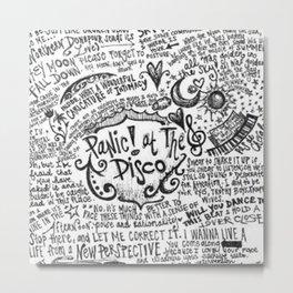 Panic! At The Disco Lyric Quotes Metal Print