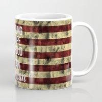 american Mugs featuring American by Karolis Butenas