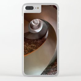 Spiral staircase in an old lighthouse Clear iPhone Case