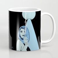 cigarettes Mugs featuring Genevieve & Cigarettes  by Andrew Formosa