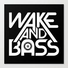 Wake And Bass (White) Canvas Print