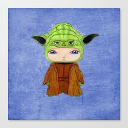 A Boy - Yoda Canvas Print