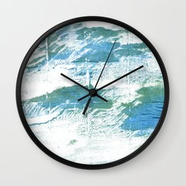 Mint cream watercolor Wall Clock