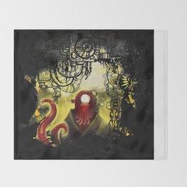 Zoidpunk Steampunk Zoidberg Throw Blanket