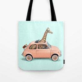 GIRAFFE CAR Tote Bag