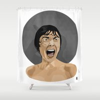psycho Shower Curtains featuring Psycho by Beethowen Souza