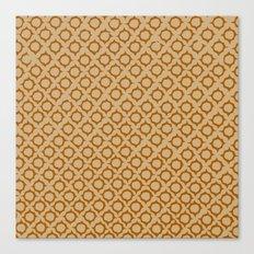 Tan/Orange Pattern Canvas Print