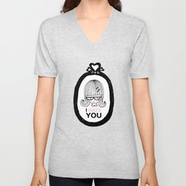 I Hate You / Picture Unisex V-Neck