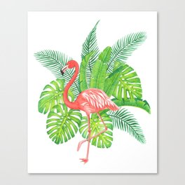 Flamingo Tropicale Canvas Print