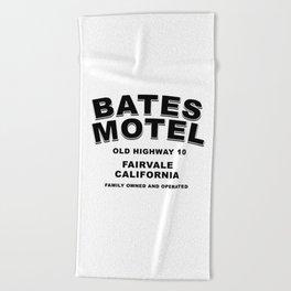 Psycho inspired Bates Motel logo Beach Towel