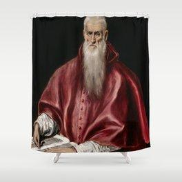 "El Greco (Domenikos Theotokopoulos) ""Saint Jerome as Scholar"" Shower Curtain"