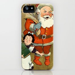 1901 Puck Magazine Christmas issue Santa children iPhone Case