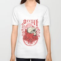 occult V-neck T-shirts featuring Occult Religion by Tshirt-Factory