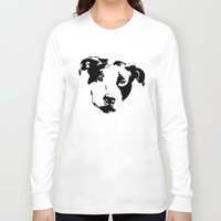 pit bull Long Sleeve T-shirts featuring Pit Bull by MIX INX