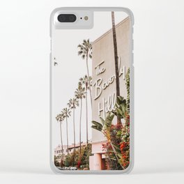 The Beverly Hills Hotel / Los Angeles, California Clear iPhone Case