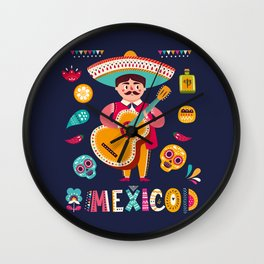 Man with Guitar – Mexico Wall Clock