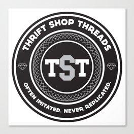Thrift Shop Threads Button_College Canvas Print