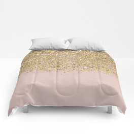 Pink and Gold Glitter Comforters
