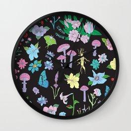 Garden Witch Wall Clock