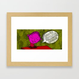 If you need me I'll be in the library keeping shit real. Framed Art Print