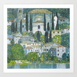 Gustav Klimt - Church in Cassone Art Print