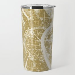 Cologne map gold Travel Mug