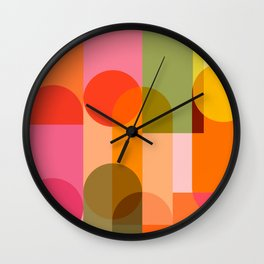 Ping Pong - brights Wall Clock