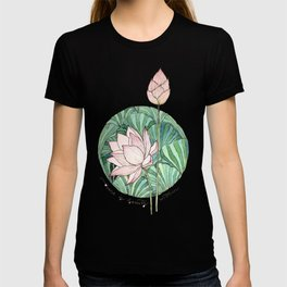 There is Beauty Within- Lotus Print T-shirt