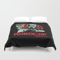 robocop Duvet Covers featuring Robocop  by Buby87