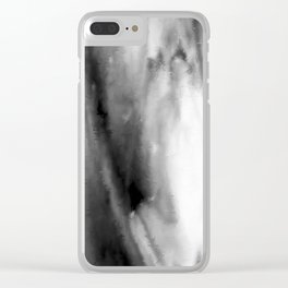 Black and White Distortion Clear iPhone Case