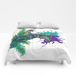 Mask of the Peacock Comforters