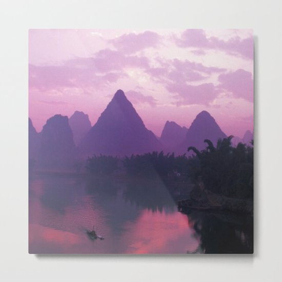 Purple Asia Metal Print