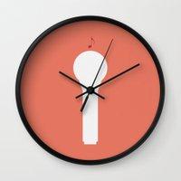 glee Wall Clocks featuring Glee - Minimalist by Marisa Passos