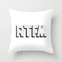 RTFM Throw Pillow
