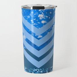 Ocean Bliss - Blue Shimmery Water Travel Mug