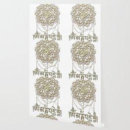 Golden Mani Mantra With Mandala Wallpaper