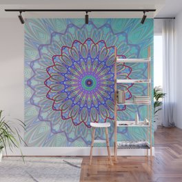 Blue Mandala Wall Mural