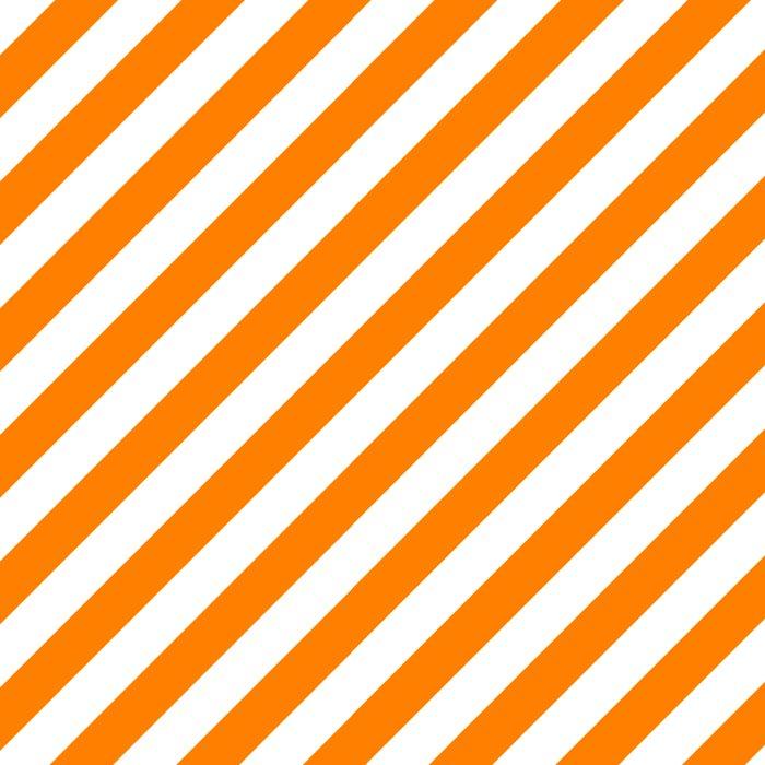 Diagonal Stripes (Orange/White) Leggings