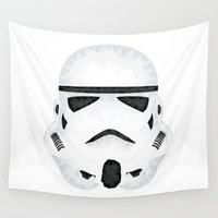 storm trooper Wall Tapestries featuring Trooper by Charles Dew
