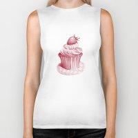 cupcake Biker Tanks featuring Cupcake by De Assuncao création