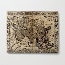 Map Of Asia 1630 Metal Print