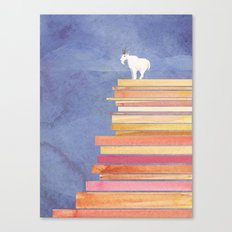 Goat on a Cliff Canvas Print