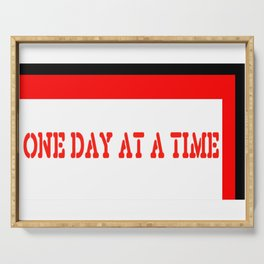 One Day at a Time (red block) Serving Tray