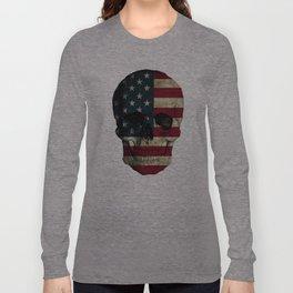 U.S. Flag Skull Long Sleeve T-shirt